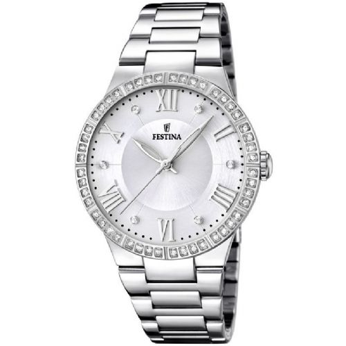F16719/1 Festina Ladies  Watch Swarovski Crystal Set Silver Bracelet